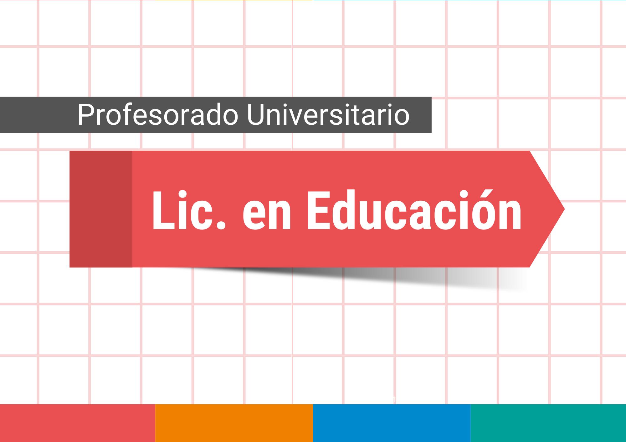 Lic en Educación